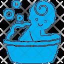 Bathing Baby Icon