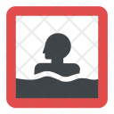 Bathing Spot Sign Icon