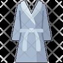 Bathrobe Wearing Clothes Icon