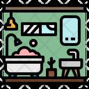 Bathroom Shower Hygiene Icon