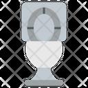 Bathroom Commode Flush Toilet Seat Icon