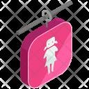 Female Bathroom Sign Icon