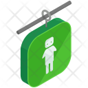 Male Bathroom Sign Icon