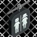 Bathrooms Sign Isometric Icon