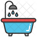 Tub Shower Water Icon