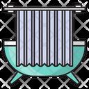 Bath Tub Curtain Icon
