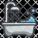 Bathtub Wellness Hygiene Icon