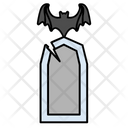 Bats Ghosts Halloween Icon