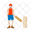 Batsman Batting Cricket Icon