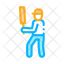 Cricket Player Batsman Icon