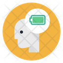 Battery Powerful Mind Energy Icon