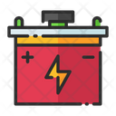Battery Bike Battery Starter Icon