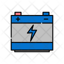 Dashed Line In Flat Color Icon