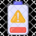 Battery Warning Battery Alert Charging Alert Icon