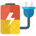 Battery Charger Battery Powered Plug Icon