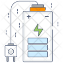 Mobile Power Battery Usage Inductive Charging Icon