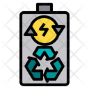 Battery Recycle Electric Station Energy Plant Icon