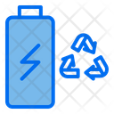 Battery Recylce Battery Charging Icon