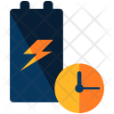 Charging Battery Time Icon