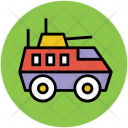 Battle Tank Military Icon