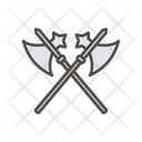 Battle Axe Cross Icon