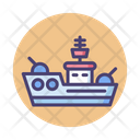 Battleship Battle Warship Icon
