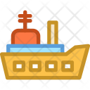 Battleship Military Ship Icon