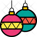 Baubles Christmas Xmas Icon