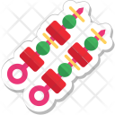 Bbq Food Skewer Icon