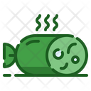 Filled Line Meat Grilled Icon