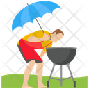 Bbq Grill Grilled Food Outdoor Cooking Icon