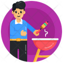 Bbq Grill Cooking Barbecue Father Cooking Icon