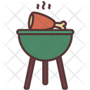 Fire Cooking Bbq Icon