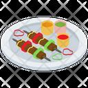 Bbq Skewer Brunch Dinner Platter Icon