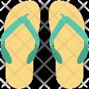 Beach Sandals Flat Icon