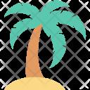 Beach Coconut Tree Icon