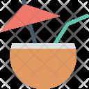Beach Drink Coconut Icon