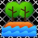 Island Sea View Icon
