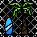Beach Coconut Surf Icon