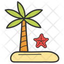 Beach Tropical Area Holiday Travelling Icon
