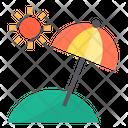 Island Beach Sun Icon