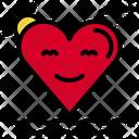 Heart Beach Loving Love Icon