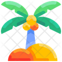 Beach Coconut Coconut Tree Icon