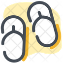 Beach Holidays Slippers Icon