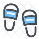 Beach Shoes Slippers Icon