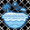 Tropical Summer Beach Icon