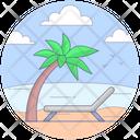 Beach Tropical Place Island Icon