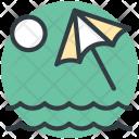 Beach Sun Parasol Icon
