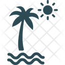 Beach Palm Tree Sea Icon