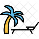 Beach Palm Tree Sun Icon
